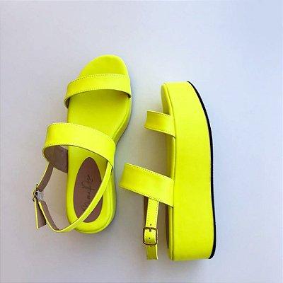 Sandália Amarela Neon