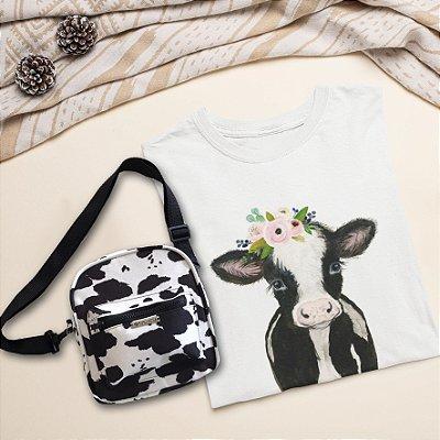 COMBO: T-Shirt Vaca + Shoulder Bag Vaca