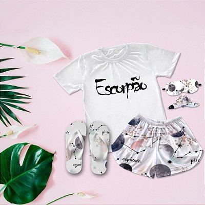 Conjunto Pijama Escorpião + Chinelo de dedo