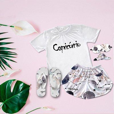Conjunto Pijama Capricórnio + Chinelo de dedo