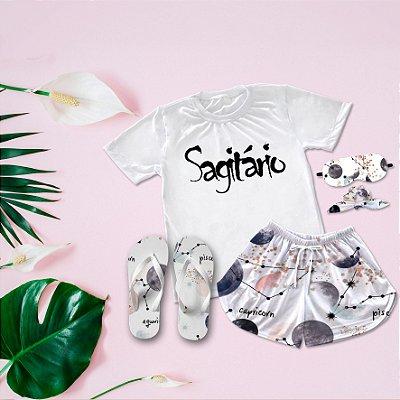 Conjunto Pijama Sagitário + Chinelo de dedo