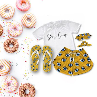 Conjunto Pijama Sleep Day + Chinelo de dedo