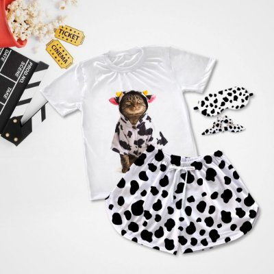 Conjuntinho Pijama Gato de Vaca