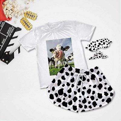 Conjuntinho Pijama Vaca Língua