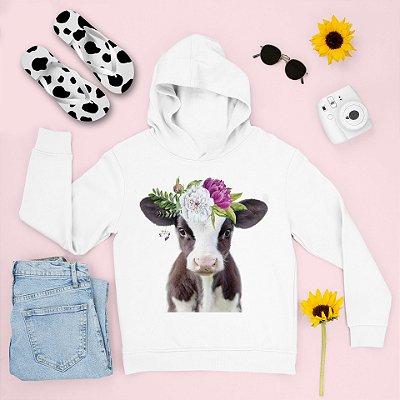 Combo Moletom Capuz + Chinelo: Vaca Coroa