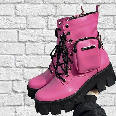 Coturno bolsinha Pink
