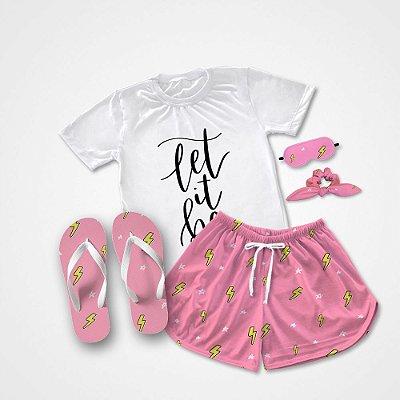 Conjunto Pijama Let It Be +  Chinelo de dedo