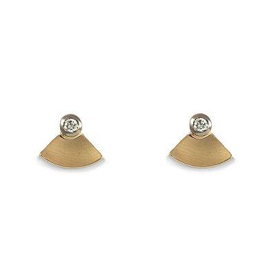 Brincos em Ouro Amarelo 18k e Diamantes