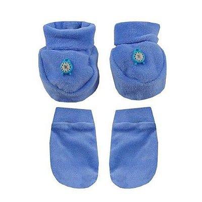 Pantufa Infantil Com Luvas - Azul