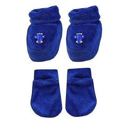 Pantufa Infantil Com Luvas - Azul Marinho