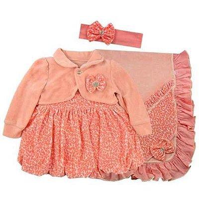 Saída Maternidade Vestido Oncinha