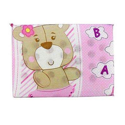 Travesseiro Anti Sufocante Bebê Estampado - Ursinha