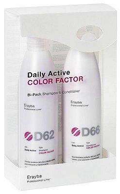 Bipack - D62 + D66 - Duração da cor - Shampoo/Cond - 2x250ml