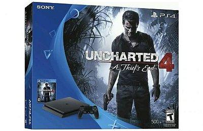Console Playstation 4 Slim - HD 500 Gb + Jogo Uncharted 4