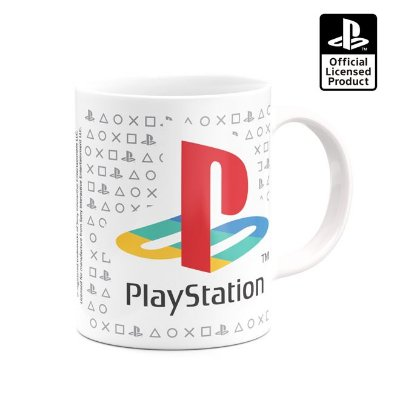 CANECA PLAYSTATION - PLAY CLASSIC - BRANCO - BANANA GEEK