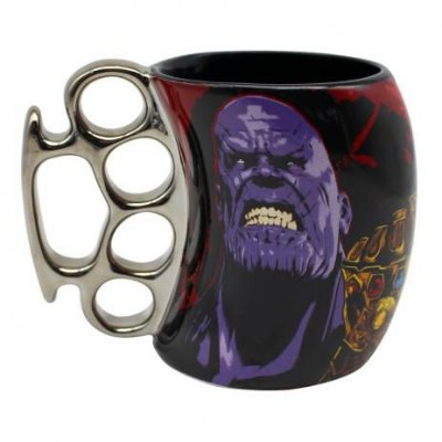 CANECA SOCO INGLES 350ML AVENGERS THANOS