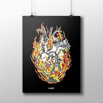 POSTER HEART FIRE