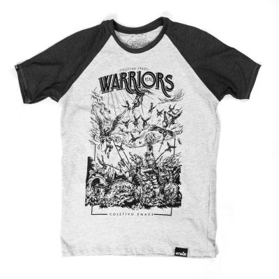 CAMISETA MASCULINA RAGLAN WARRIORS