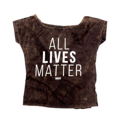 CAMISETA FEMININA ALL LIVES LAVADA