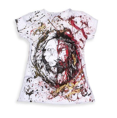 CAMISETA FEMININA JESUS&LION CUSTOM