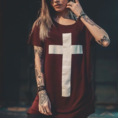 LONGLINE FEMININA CRUZ VINHO