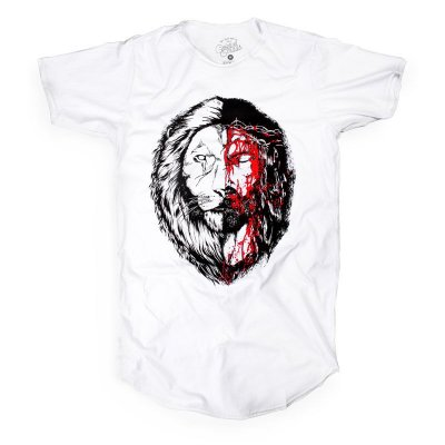JESUS&LION LONGLINE WHITE