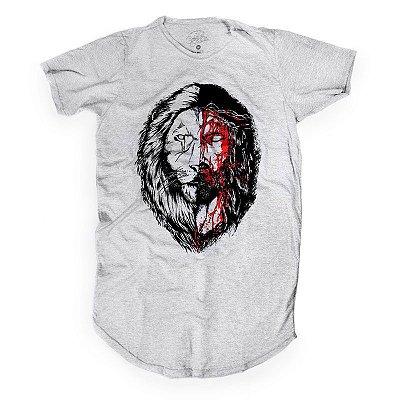 JESUS&LION LONGLINE CINZA