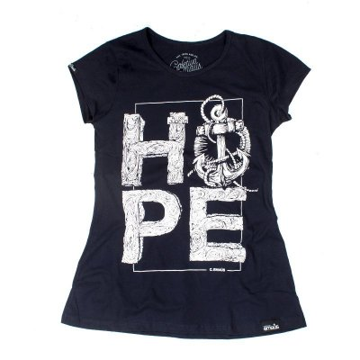 CAMISETA FEMININA HOPE MARINHO