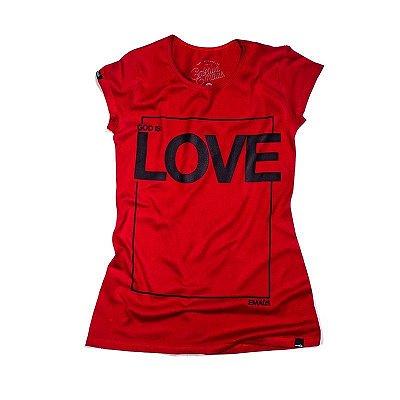 CAMISETA FEMININA  LOVE RED