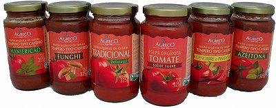 Molhos de tomate orgânicos – Tradicional e Temperados - 325g