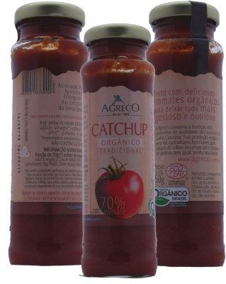 Catchup Orgânico Tradicional. 70% tomate - 150g