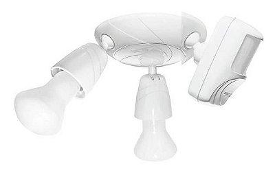 Kit Sensor de presença de teto 110° + suporte + tulipa