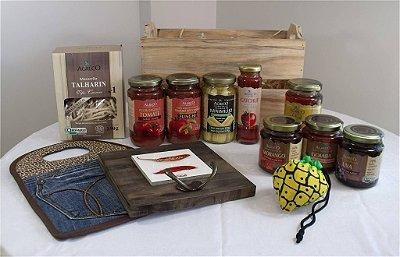 Cesta com produtos orgânicos e ecológicos - Kit 3