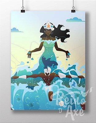 Poster Iemanjá e Ogum Beira Mar