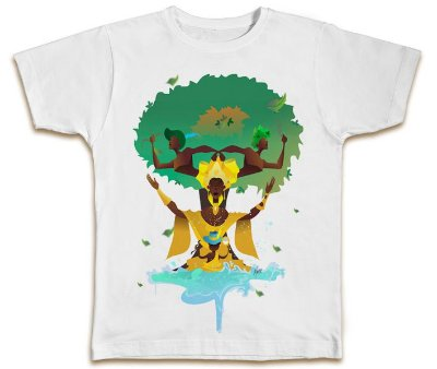 Camiseta  Oxum, Logun Edé, Oxossi e Ossaim