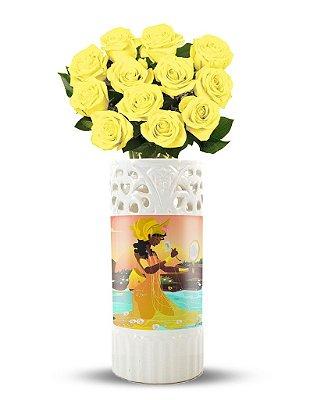 Vaso Flores de Oxum
