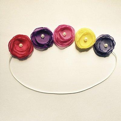 Coroinha de Mini Lilis Coloridas