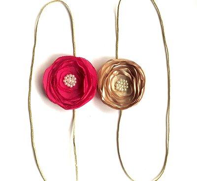 Duplinha Lilis . Pink e dourada