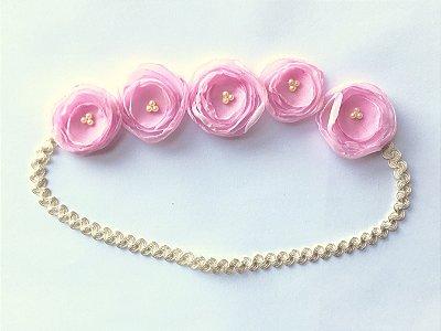 Coroinha mini Lilis . Rosa