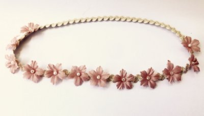 Coroinha mini flores . Rosa Seco