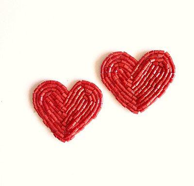 Coração Petites na presilha . a dupla