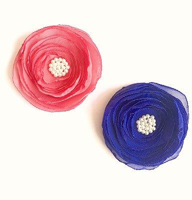 Lilis Coral + Azulão . Presilha