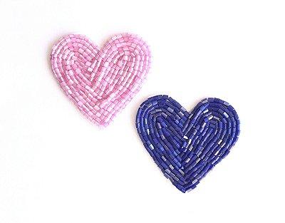 Coração Pink + Coração Azulão