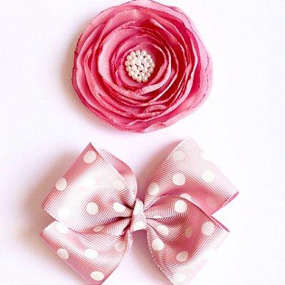 Lili . O rosa mais lindo do mundo + Laço poá