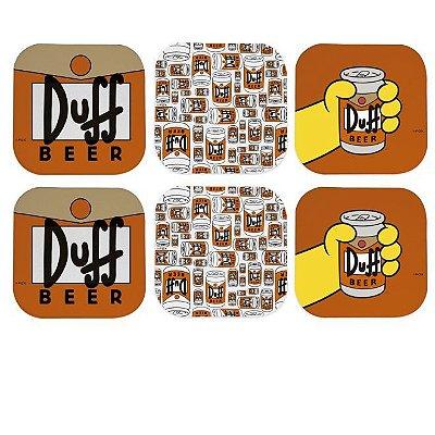 Porta Copos Simpsons Duff c/6