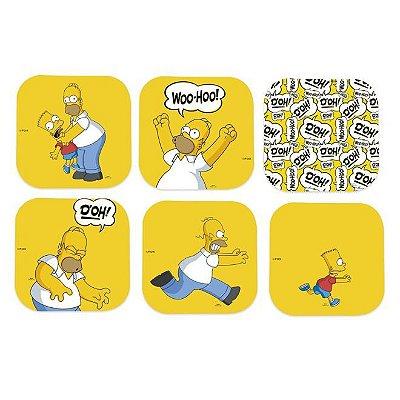 Porta Copos Simpsons Homer c/6