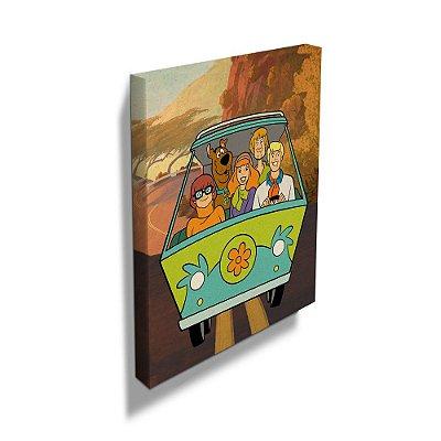 Quadro Tela Mystery Machine Scooby-Doo 40x50