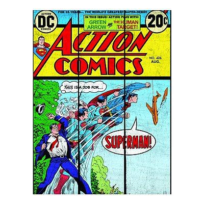 Placa de Madeira Vintage Superman Transformação 36x50