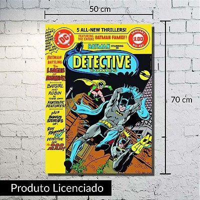 Quadro Tela Batman Detective Grande 50x70