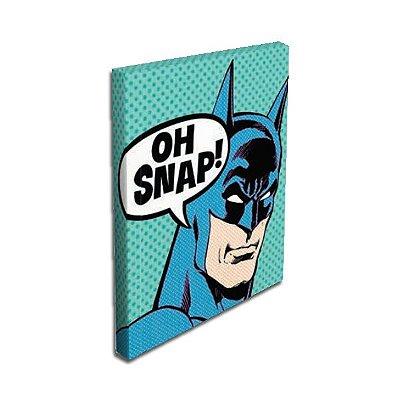 Quadro Tela Batman Oh Snap Grande 50x70